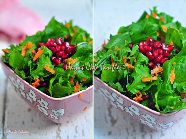 narlı roka salatasi tarifi
