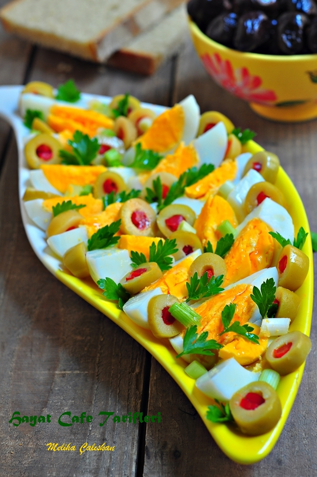 kahvaltlık yumurtalı salata