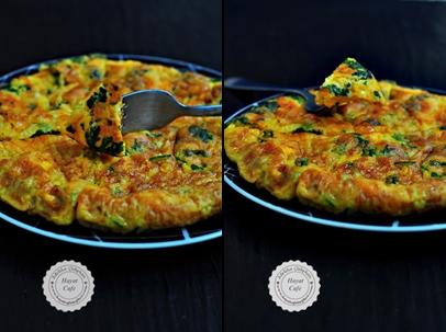 otlu omlet yapılışı