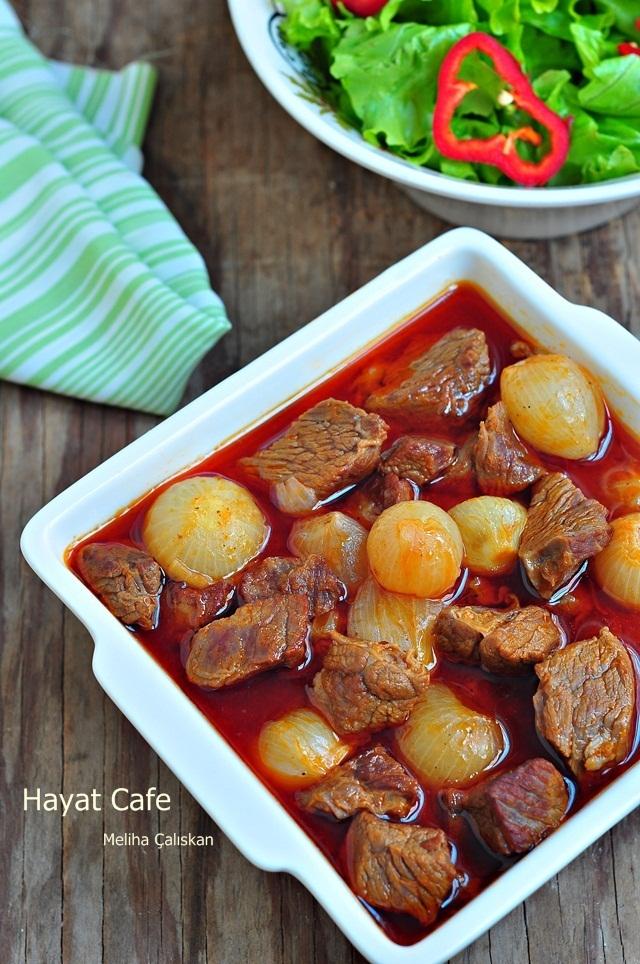 arpacık soğanlı patatesli et yemeği