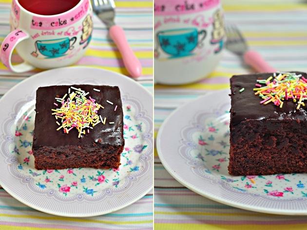 üzeri pudingli kek