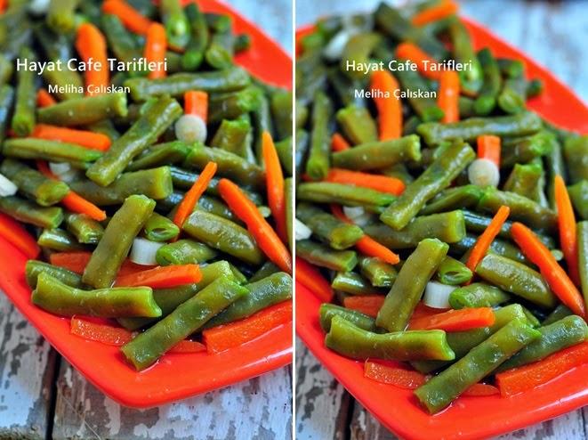 havuçlu taze fasülye salatasi
